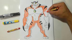 rath ben 10 alien force in crayon coloring pages sailany coloring