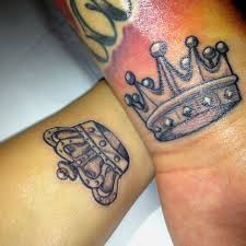 Tattoos For Him And 25 Beautiful Crown Matching Tattoos