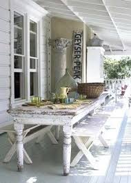 Farmhouse Patio Furniture Ticking And Toile Patio Plans I Want A Large Farm Style Table
