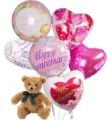 balloons and bears delivery anniversary balloons 6 mylar balloons send