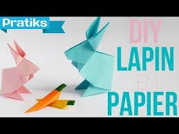 comment faire un lapin en papier origami educatout
