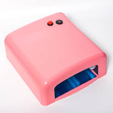 pink nail art lamp high power lampe uv 818 36w square nail uv lamp