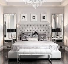 grey bed silver and grey glamour bedroom love the vertical mirrors