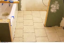 Laying Tile Floor In Bathroom - guest bathroom tile floor cottage magpie