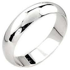 18k white gold wedding band mens white gold wedding bands ebay