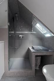 loft bathroom ideas glass shower sceen slanted for attic ceiling amazing bathrooms