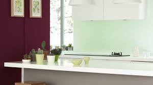 pair burgundy and mint for a fresh kitchen look dulux