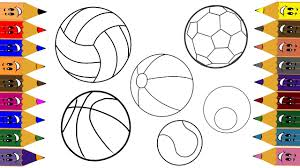 sport ball for children coloring and drawing with sport balls for