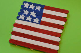 patriotic american flag craft stick craft for kids