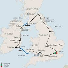 Map Of England And Ireland by England Tours Globus England Vacation Packages