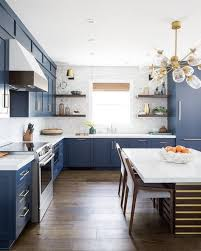 how are cabinets in a kitchen this is how you rock blue cabinets in the kitchen hunker