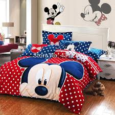 Mickey Mouse Bed Sets Best Quality New Mickey Mouse Polka Dots Blue Bedding Set Warm