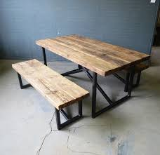 reclaimed industrial chic x style 6 8 seater wood metal dining