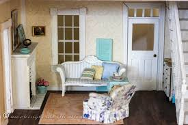 Dollhouse Decorating by Who What Where Dollhouse Living Room