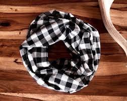 plaid infinity scarf etsy