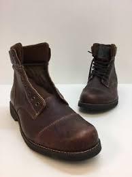 s knit boots size 12 aldo brown leather combat ankle knit lace up cap toe