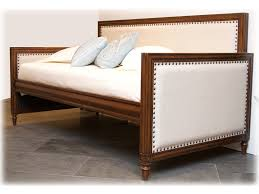 fashion bed group bedroom grandover wood daybed with nail head