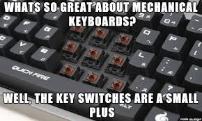 Meme Keyboard - a friend asks what s so great about mechanical keyboards
