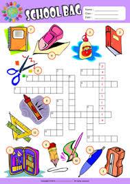 schoolbag esl printable worksheets for kids english teaching