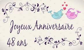 48 ans de mariage carte anniversaire mariage 48 ans oiseau