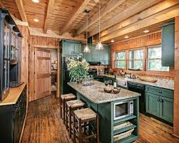 Timberland Cabinets Deep In The Forest In A Georgia Log Home