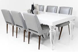 Acrylic Dining Room Tables by Ghost Dining Chairs Room Beach Style With Dark Wood Table Gray Rug