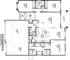 One Level Home Floor Plans Free 3 Car Garage Floor Plans
