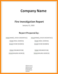 Firefighter Resume Templates Fire Report Template Eliolera Com