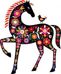 with slovak folk ornaments vector illustration