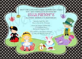 free printable alice in wonderland birthday invitations