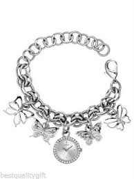 butterfly bracelet charms images Guess ladies butterfly charm bracelet watch w11534l1 with tags ebay jpg