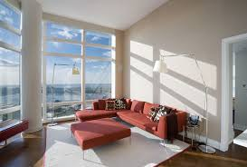 living room uptown high rise apartment york city