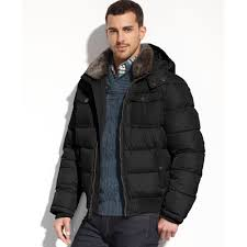 tommy hilfiger double pocket faux furtrim puffer performance