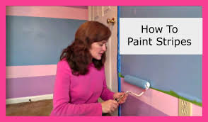 how to paint stripes in a bedroom diy momprepares youtube