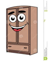 cartoon bugatti cartoon wardrobe furniture character stock vector image 44085818