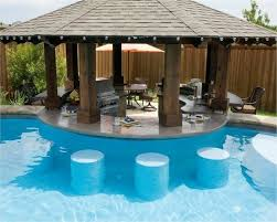 Best Pools With Outdoor Kitchens Images On Pinterest - Backyard designs with pool and outdoor kitchen