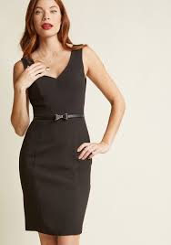 sheath dress sleeveless belted sheath dress in black modcloth