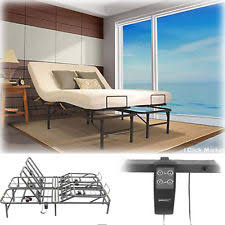 full size electric adjustable head lift bed frame remote control