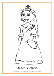 queen victoria colouring history coloring sheets