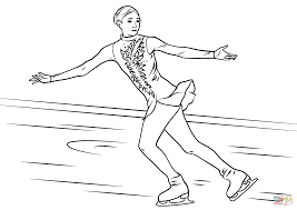 ice skater coloring page free printable coloring pages