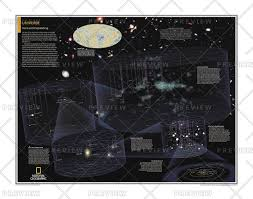 Map Of Universe Wall Map Of The Universe