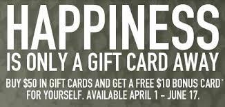 bonefish gift card bonefish grill buy 50 gift card get 10 bonus card giveaway