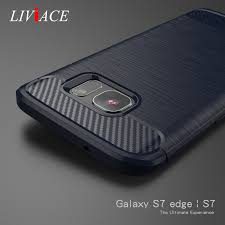 carbon fiber armor silicon phone covers for samsung galaxy s7