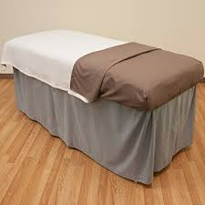 microfiber massage table sheets microfiber massage table skirt walnut brown from body linen
