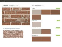 oldham tudor earth tone brick general shale behr ppg paints