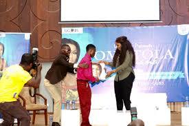 fans mob omotola jalade ekeinde at ghana u0027s business where