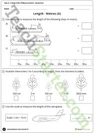 using units of measurement worksheets year 4 teaching resource