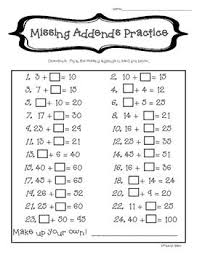 subtraction subtraction worksheets missing addend free math
