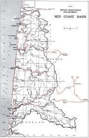 Tillamook Oregon Map by Water Resources Department Mid Coast Basin