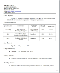 simple resume format doc free download simple resume format for freshers free download business template